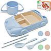 """Іграшкова посуд дитяча з пшеничного лушпиння """"Машина"""" 6шт/30 наб*19см R87744"""