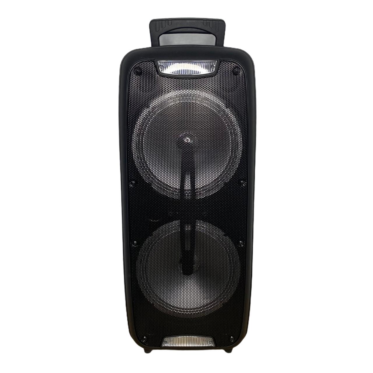 Мощная переносная акустика /колонка 1200W Bluetooth KIMISO QS-220 + микрофон