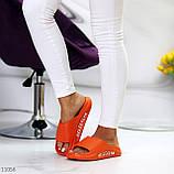 Жіночі шльопанці яскраві помаранчеві піна/ резина, фото 2