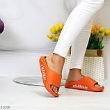 Жіночі шльопанці яскраві помаранчеві піна/ резина, фото 3