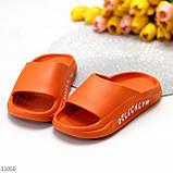 Жіночі шльопанці яскраві помаранчеві піна/ резина, фото 4