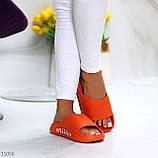 Жіночі шльопанці яскраві помаранчеві піна/ резина, фото 5