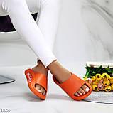 Жіночі шльопанці яскраві помаранчеві піна/ резина, фото 6