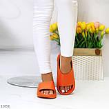 Жіночі шльопанці яскраві помаранчеві піна/ резина, фото 7
