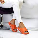 Жіночі шльопанці яскраві помаранчеві піна/ резина, фото 8