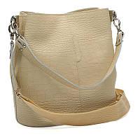 Жіноча шкіряна сумка Ricco Grande 1l972rep-beige