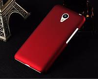 Пластиковый чехол для Meizu metal бордовый, фото 1