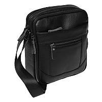 Черная кожаная сумка Borsa Leather 10m223-black