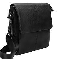 Мужская кожаная сумка Borsa Leather 1t8871-black