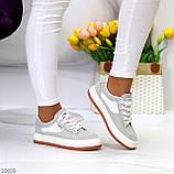 Кроссовки женские серые эко-замш весна/ осень, фото 8