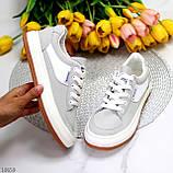 Кроссовки женские серые эко-замш весна/ осень, фото 9