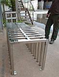 Велопарковка-лавка дизайнерська Bike-bench, фото 2