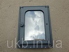 Дверца топочная с термостеклом 410*310 мм / Дверцята топочні з термосклом 410*310 мм