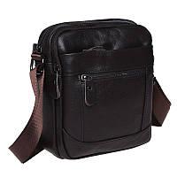 Мужская кожаная сумка Borsa Leather K1223-brown