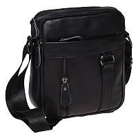Мужская кожаная сумка Borsa Leather K11169a-black