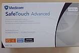 Рукавиці нітрилові текстуровані Medicom сині розмір XS, фото 2