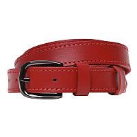 Червоний шкіряний ремінь Borsa Leather 110v1genw23