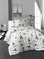 Постельное белье First Choice Ranforce Paris хлопок 160-220 см серый, фото 1