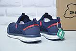 Чоловічі кросівки сітка без шнурка сині Restime, фото 3