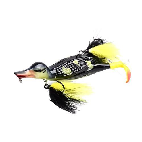 Воблер Качка принада тверда 3D 12см 30г на щуку сома ALLBLUE Stupid Duck, 103420