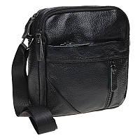 Мужская кожаная сумка через плечо Borsa Leather K11027-black