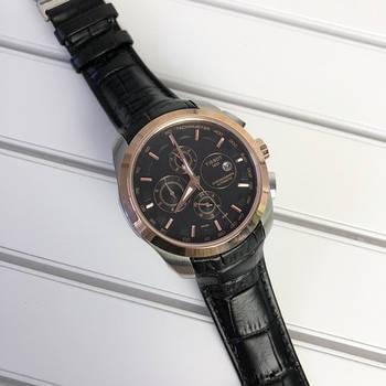 Часы наручные мужские Tissot LT60 Mechanic Black-Gold механические с автоподзаводом кожаным ремешком