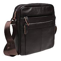 Мужская кожаная сумка через плечо Keizer K19980-brown