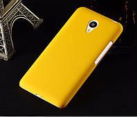 Пластиковый чехол для Meizu metal жёлтый, фото 1