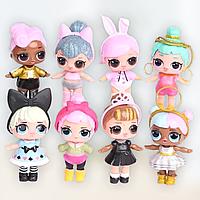 Куклы лол сестрички, маленькие куколки 8 см, Самые модные маленькие куклы Лол 8 шт для детского сада
