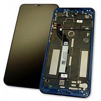 Дисплей Xiaomi Mi8 Lite с сенсором и рамкой синего цвета (оригинал 100%), фото 1