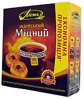 """Чай черный Лісма """"Міцний"""" 100п."""