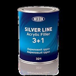 Акриловый грунт Silver Line Mixon 3+1. Черный. 0,8 л