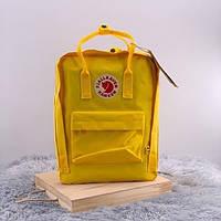 Рюкзаки Fjallraven Kanken. Дитячий рюкзак жовтий Kanken Classic. Портфелі Канкен шкільні для підлітків 16л