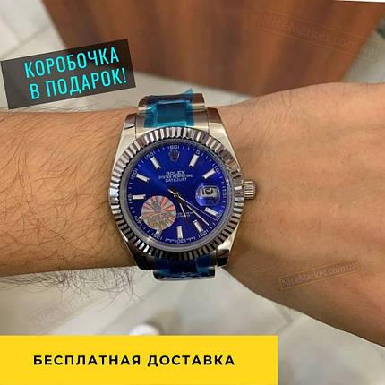 Rolex Datejust Silver-Blue-White, фото 2