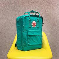 Рюкзаки Fjallraven Kanken. Дитячий рюкзак зелений Kanken Classic. Портфелі Канкен шкільні для підлітків 16л
