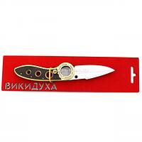 """Деревянный нож игрушка """"Выкидуха Флип""""(BLACK) из Counter-Strike ( арт.FL-BLACK), фото 1"""