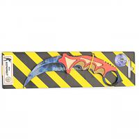 """Дерев'яний ніж іграшка """"Керамбит"""" (Синій Кристал) з Counter-Strike ( арт.KAR-C), фото 1"""