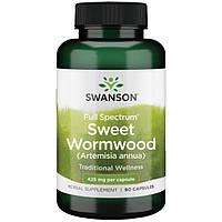 Полынь Однолетняя Сладкая, WormWood Artemisia, Swanson, 425 мг, 90 капсул