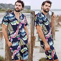 Мужской летний прогулочный костюм с шортами 41564 (46-48; 50-52) СП, фото 1