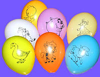 """Воздушные шарики пастель  шелкография домашние животные 10"""" 25 см) оптом ТМ Gemar"""