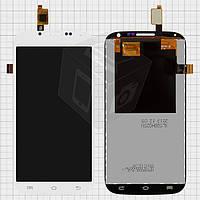 Дисплейный модуль (дисплей + сенсор) для Ergo SmartTab 3G 5.0, белый, оригинал