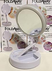Зеркало с подсветкой для макияжа LED MY FOLDAWAY EL-555/JG-988/ 1113 кроглий (48 шт/ящ)