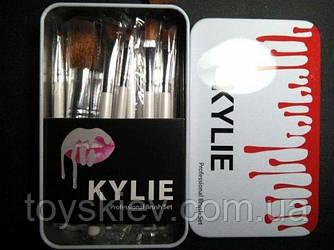 KYLIE Пензлики для макіяжу Make-up brush set білий 12шт ART-4022 (160 шт)
