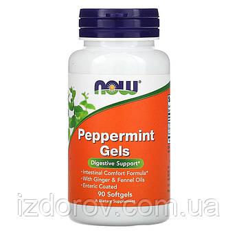 Now Foods, Перечная мята в капсулах, Peppermint Gels, 90 капсул