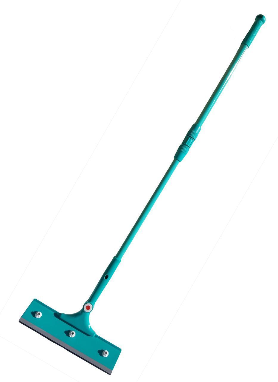Стекломойка поворотная 180* ширина=28 см, металлическая телескопическая ручка = 100 см см (Хозленд)
