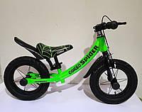 """Беговел для малышей с надувными колесами, подножкой и регулировкой по высоте CORSO """"SPIDER"""" 75123"""