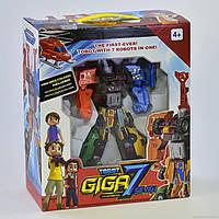 "Дитячий робот машинка Трансформер для хлопчика розбирається на 7 окремих машинок 528 ""Гіга 7"""