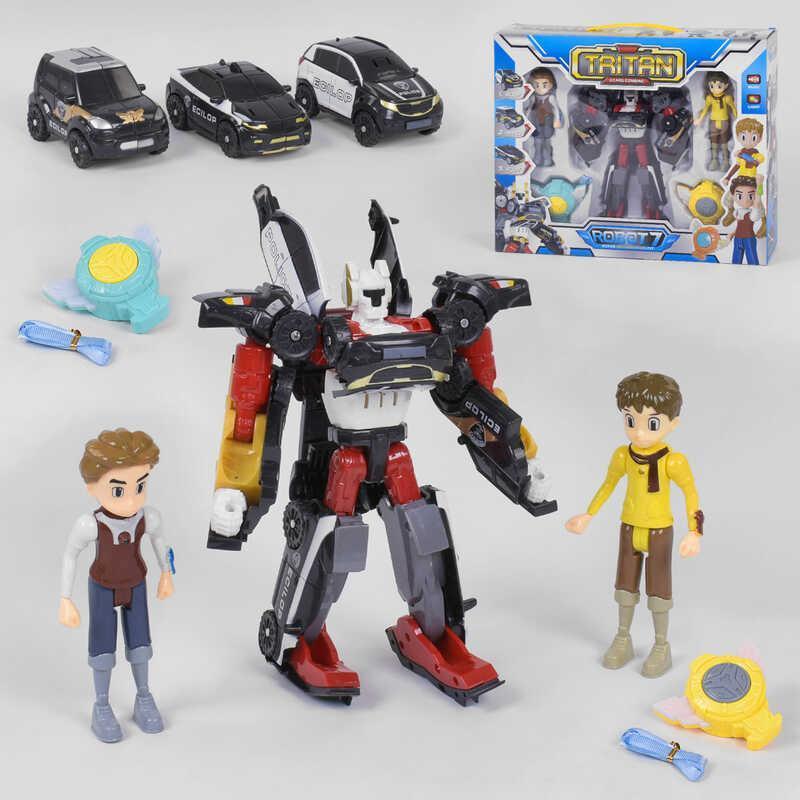 """Робот-трансформер Тритан """"Tritan Tobot 7"""" Q 1906 подвижный из 3 машинок"""