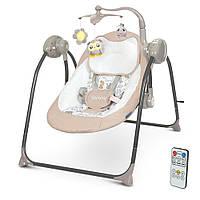 Детский укачивающий центр, качели напольные для новорожденных ME 1075 TEDDY Beige Linen Animals, цвет бежевый, фото 1