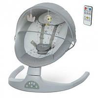 Электронный центр для укачивания детей с рождения с Bluetooth, USB ME 1074 MYLA Light Gray Linen, светло-серый, фото 1